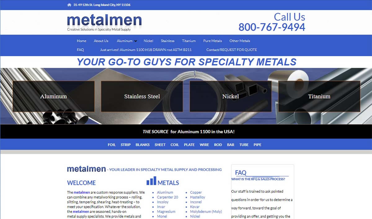 Metalmen Sales Inc.