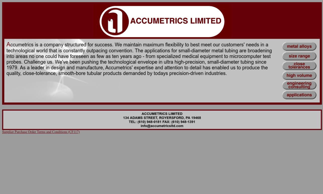 Accumetrics Limited