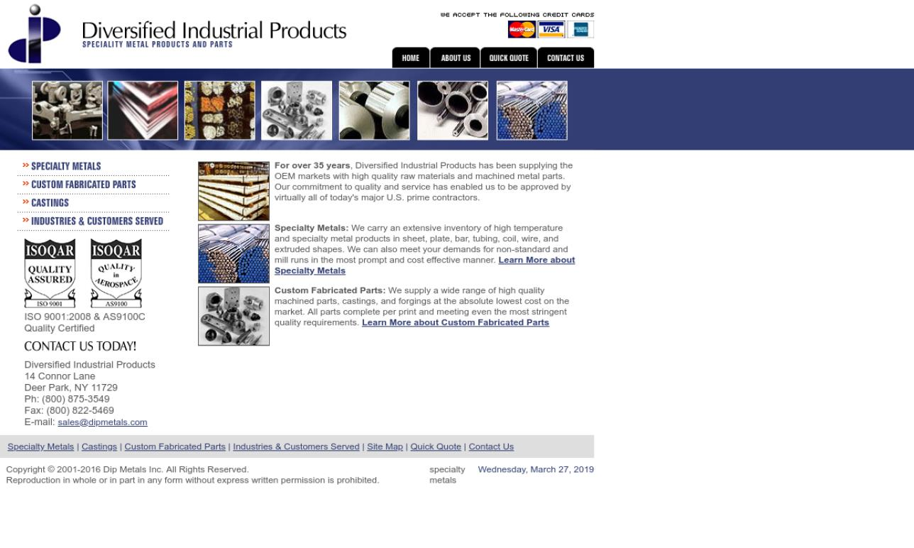 Diversified Industrial Products